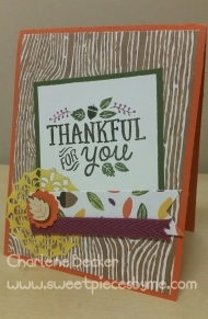 Thankful For You - Charlene Becker www.Sweetpiecesbyme.com