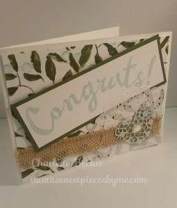 Congrats Wedding Card, www.sweetpiecesbyme.com