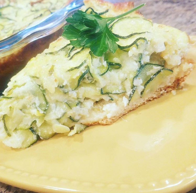 Ingredients & Zucchini Deep Dish Pie (Quiche) by Pampered Chef u2013 Modified u2013 Sweet ...